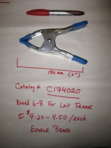 "Eagle 150mm (6"") Spring Clamp; Catalog number C174020"