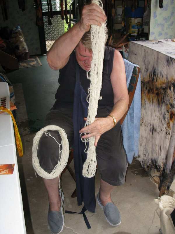 Judy Winding wool to be dyed