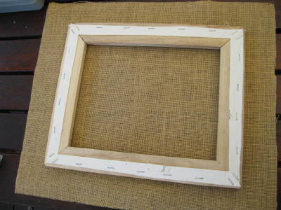 Canvas cut out with hessian 4